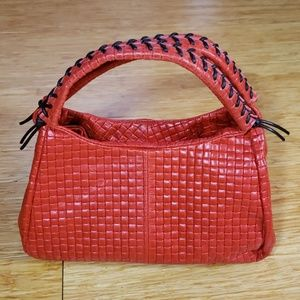 New Italian woven look medium satchel
